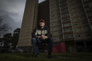Public housing resident Brian Joss is worried he'll lose his parking space at the Wellington Street estate.