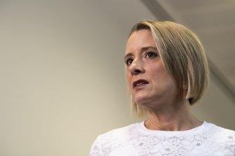 """Kristina Keneally called Peter Dutton a """"warmonger""""."""