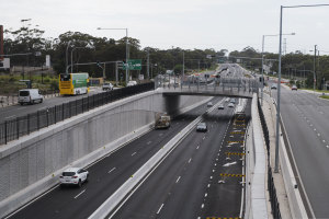 Traffic has died down on toll roads throughout Australia, including the Warringah Rd bypass.