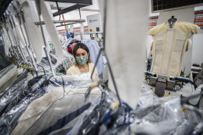 Carolina Hoffmann, from Laundry Box dry cleaners, after getting her business through a fifth lockdown.