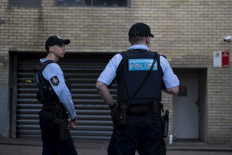 One of the raids by the AFP on the CFMEU headquarters in Pyrmont.
