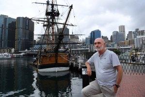 Captain John Dikkenberg, master of the HMB Endeavour in Darling Harbour.