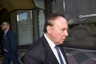 Stanley Kaftel is accused of borrowing money from Rodney Adler without disclosing he was an undischarged bankrupt.