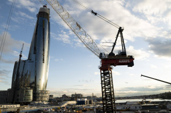 Crown's $2.4 billion casino and hotel is now Sydney's tallest building. But the company's credibility has come under attack.