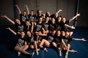 South Cross Lady Reign members celebrate their world-class win.