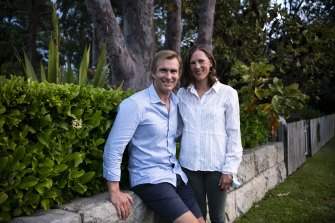 Rob Stokes and wife Sophie Stokes.