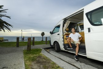 Marcus Moffat, 22, has found owning campervans and renting them out to be a good side hustle while at university.