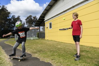 Heather Kennedy is paying for private tennis lessons for her son Sebastian and private skateboarding lessons for her son Luka to keep  them active during lockdown.