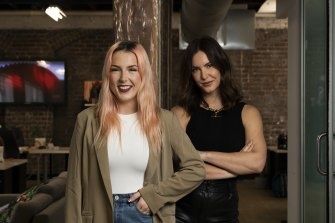 Tannar Eacott has more than one million YouTube subscribers, she's pictured with Grace Watkins, chief executive of Click Mangement.
