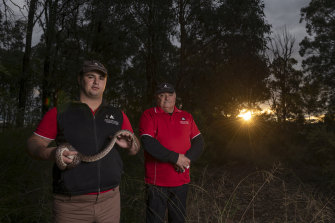 Since leaving foster care, Aaron Smith (left) has started a diploma in reptile zoology and helps other Indigenous young people through the TRYP (To Reach Your Potential) program, founded by Col Watego.