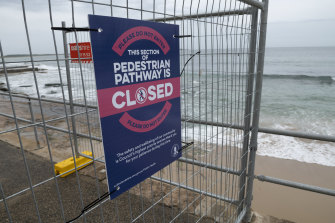 A narrow section of The Esplanade between North Cronulla and South Cronulla was closed because it often grows congested.