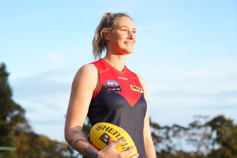 Tayla Harris in her new colours