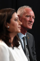 Ms Palaszczuk and Mr Dickson at the People's Forum.