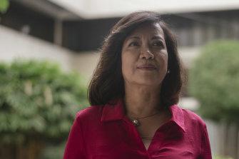 Former supreme court chief justice Maria Lourdes Sereno, ousted by Rodrigo Duterte's government.