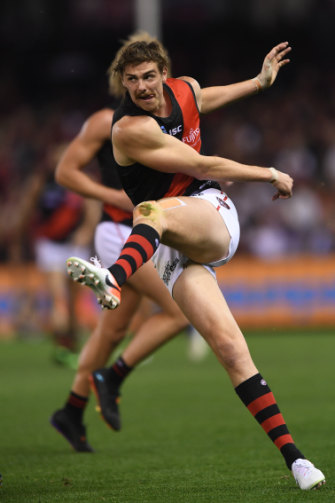 Joe Daniher in action during round 5 against North Melbourne.