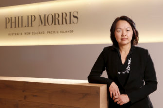 "Tammy Chan, Philip Morris Australia's managing director. ""We know the scepticism,"" she says, ""but we are asking people to believe that we have changed."""