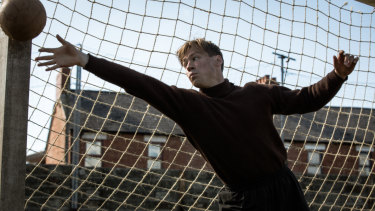 German actor David Kross as the footballer Bert Trautmann in The Keeper.