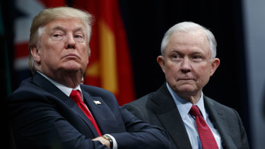 President Donald Trump has repeatedly criticised Attorney-General Jeff Sessions, right.