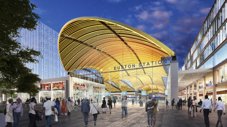 An artist's impression of how Euston station will look once its redeveloped.