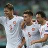 Denmark beat Czechs 2-1 to reach Euro 2020 semi-finals