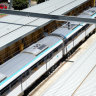 Australia's first driverless metro train is facing its first peak-hour test on Monday morning.