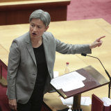 "Labor's leader in the Senate, Penny Wong accused Senator Colbeck of abandoning ""responsibility""."