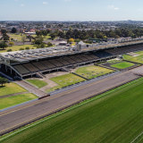 The heritage-listed grandstand.