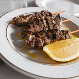 Grilled lamb rump skewers at Bartolo.
