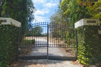 The gates of Mowbray remain after an almost $40 million mansion was knocked down in Toorak.