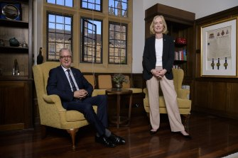 Future Sydney University vice-chancellor Mark Scott with chancellor Belinda Hutchinson.