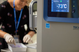 Pfizer's COVID-19 vaccine being delivered to Queensland hospitals, kept at minus 73 degrees.