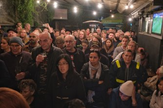 Richmond locals  packed out the public meeting at the All Nations pub in April.