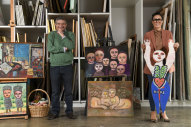 Humanity and diversity: William Mora, with Jewish Museum of Australia CEO Jessica Bram at Mirka Mora's Richmond studio.