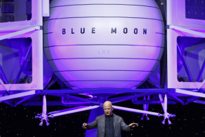 Blue Origin's lander sits at the centre of Bezos' ambition to ferry humans into deep space.