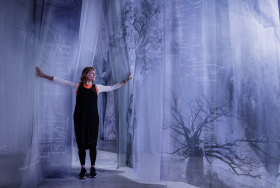 Janet Laurence in her <i>Forest (Theatre of Trees)</i>.
