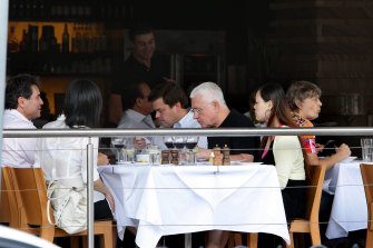A fan of a long lunch: Ron Medich at lunch at Tuscany in Leichhardt in November, 2009.