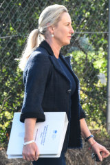 Olivia Inglis's mother, Charlotte, at Lidcombe court on Friday.