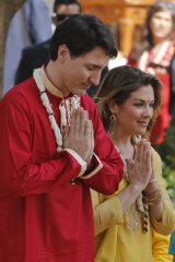 Justin Trudeau with wife Sophie during that infamous Indian excursion.