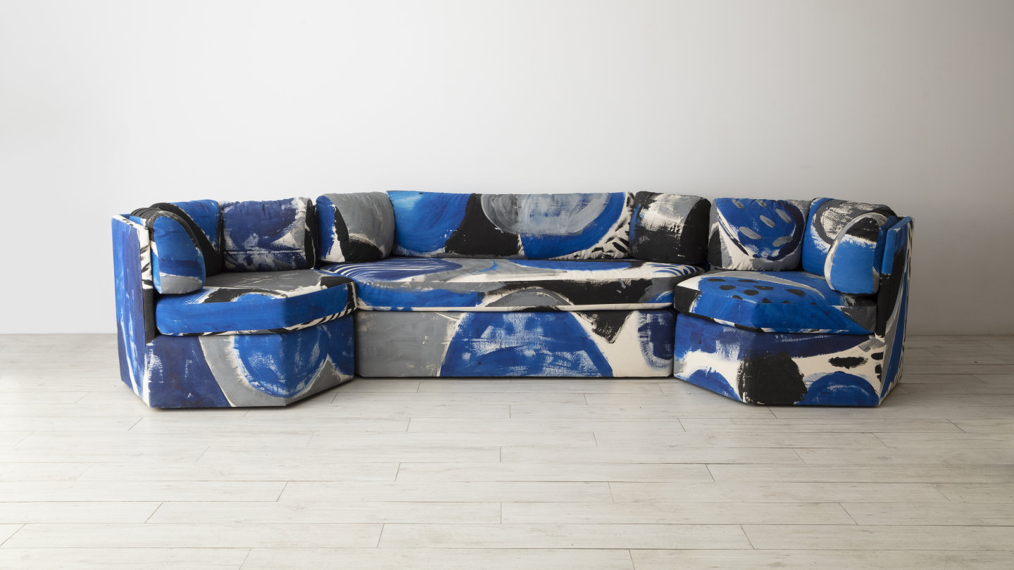 Le Blu Lagoon sofa set by Naomi S. Clark for Fort Makers, New York.