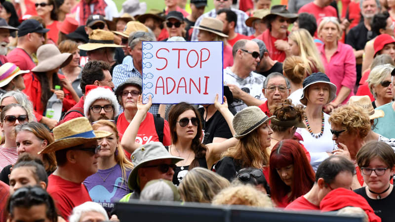 Thousands in Brisbane join nationwide Stop Adani rallies