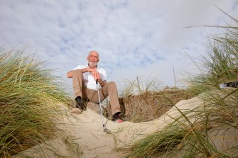 Farmer and golfer Rex Grady, who has been involved in protecting the golf course for years from sea level rises.