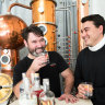 """""""Gin was a category that was ready to have a popularity spike"""": Jesse Kennedy of Poor Tom's gin, left, with co-owner Griffin Blumer."""