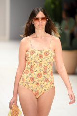 Diversity: A model wears Camp Cove in the swimwear show at Mercedes-Benz Fashion Week Australia on Monday.