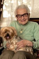 Ilse Blair and her faithful pet Mandy.