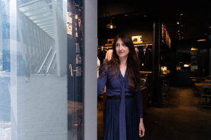 Shirt Bar owner Louka Marmot says the retail centre is becoming busier each week