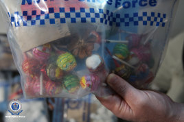 The drugs had been concealed within lollies and lollipops.