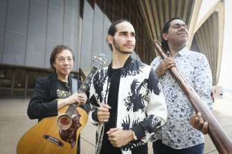 Guitarist Rex Goh, singer Isaiah Firebrace and didgeridoo player William Barton will perform at Sydney's Australia Day events.