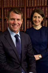 Then premier Mike Baird with deputy Gladys Berijiklian in 2015.