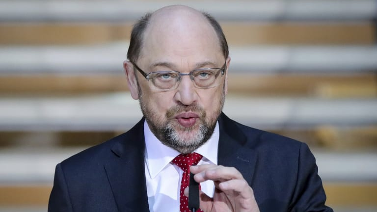 Martin Schulz, head of Germany's Social Democratic Party.