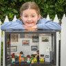 Scarlett Martin with her 'Neighbourhood Museum'.